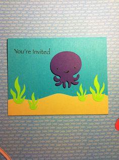Under the Sea party invitations. $10.00, via Etsy.