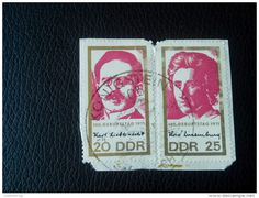 RARE 20/25 DDR MARKE 100 GEBURTSTAG 1971 GERMANY RECOMMENDET PACKAGE-LETTRE STAMP ON PAPER COVER USED SEAL - [6] Democratic Republic