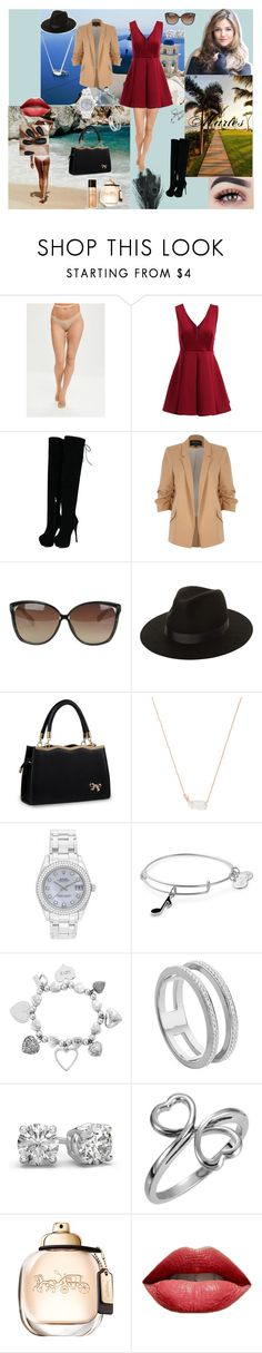 Christina by aline-sklws on Polyvore featuring mode, River Island, Missguided, Rolex, ChloBo, Monica Vinader, Kendra Scott, Alex and Ani, Lack of Color and Linda Farrow