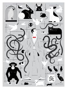 Pet Shop Pee-wee Herman Poster by Chris DeLorenzo