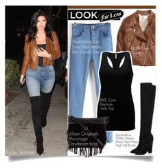"""""""LOOK FOR LESS: Kylie Jenner"""" by zalarupar ❤ liked on Polyvore featuring BKE core and Urban Originals"""