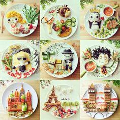 """""""ما رأيكم  بإعداد أطباق كهذه لأطفالكم كل صباح لتشجيعهم على تناول وجبة الأفطار ☺☕ #إفطار #فطور  #وجبة_إفطار  #تزيين  #تزيين_الطعام #دنيا_امرأة…"""""""
