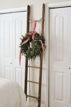 simple ladder decor
