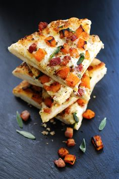 butternut squash pizza with pancetta sage pizza topped with roasted ...