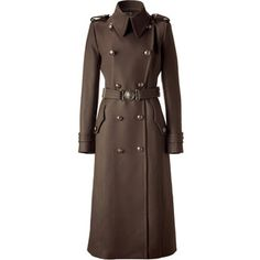 Brown Double Breasted Long Coat with Belt Military Style Coats, Cool Outfits, Casual Outfits, Cool Coats, Double Breasted Coat, Work Attire, Military Fashion, Glamour, Coats For Women