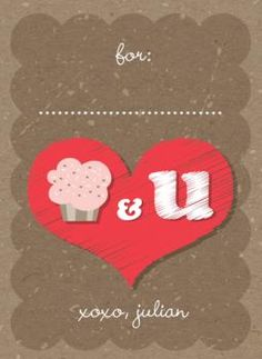 Cupcakes And You Classroom Valentine Card by fatfatin