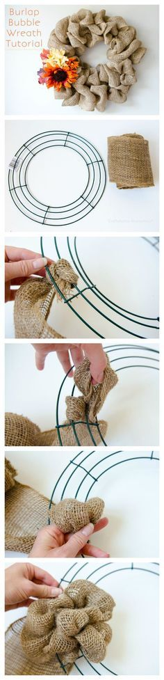 Burlap Bubble Wreath Tutorial {EASY!} | Craftaholics Anonymous | Bloglovin'