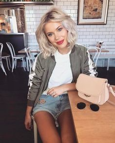 Look Great, Feel Great: Perfect Beauty Tips – Fashion Look Fashion, Fashion Beauty, Mode Outfits, Fashion Outfits, Fashion Trends, Laura Jade Stone, Short Blonde, Mode Inspiration, Hair Dos