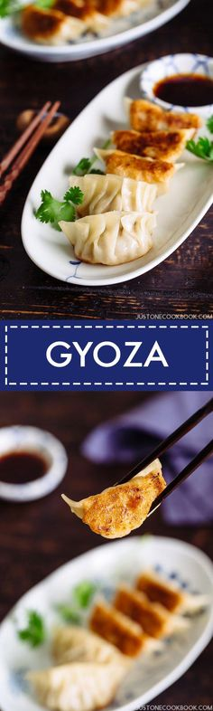 Homemade Gyoza (Japanese potstickers) recipe with detailed instructions with photos and video; Learn how to make fillings and fold gyoza! Easy Japanese Recipes, Japanese Dishes, Asian Recipes, Healthy Recipes, Ethnic Recipes, Healthy Lunches, Japanese Food, Pork Recipes For Dinner, Great Recipes