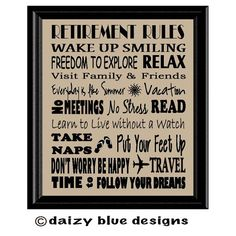 Retirement Subway Art Retirement Gift Retiree by DaizyBlueDesigns - 10 Retirement Gifts For Men, Retirement Celebration, Teacher Retirement, Retirement Cards, Retirement Parties, Retirement Ideas, Retirement Countdown, Happy Retirement, Best Retirement Quotes