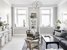 7 Ideas to Steal from a Super-Stylish Scandinavian Home - leave some breathing room Interior Design Living Room, Living Room Designs, Living Spaces, Design Apartment, Apartment Therapy, Lovely Apartments, Home Decoracion, Scandinavian Home, Living Room Inspiration