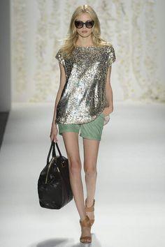 Rachel Zoe Spring 2013 // metallic and mint