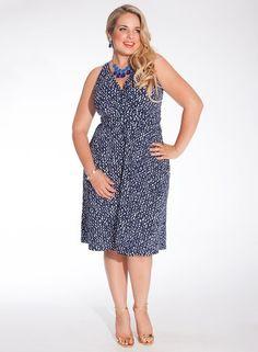 Heidi Halter plus size dress in Hampton Royal