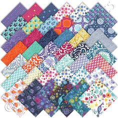 "Just bought this - need a project to use them! Moda Cuzco Charm Pack 42 5"" (12.7cm) Quilt Squares"