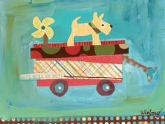 Oopsy Daisy Pup on a Wagon Stretched Canvas Wall Art by Winborg Sisters, 14 by 10-1/2-Inch by Oopsy daisy, Fine Art for Kids. $56.33. Wipes clean with damp cloth. Made in the Unites States. No framing required. Giclee on canvas. Sawtooth makes it easy to hang. Our stretched canvas wall art reproductions are created in Oopsy daisy's San Diego studios where we print in the best digital method currently available, achieving great clarity and color resolution in each piece. After pri...