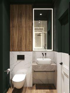 A Moody St.Petersburgh Apartment Interior Under 75 Square Meters (Includes Floor Plan) Bathroom Styling, Bathroom Interior Design, Apartment Interior, Home Interior, Contemporary Interior, Modern Interior Design, Modern Bathroom, Small Bathroom, Wc Decoration