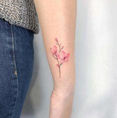 ✔ Cute Tattoos For Women With Color Tiny Tattoos For Girls, Little Tattoos, Small Tattoos, Tattoos For Women, Hot Tattoos, Pretty Tattoos, Small Colorful Tattoos, Tattos, Form Tattoo