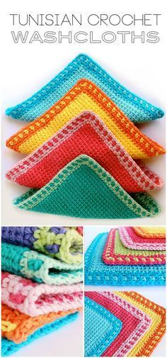 I have rounded up some of the best and interesting free #Crochet #Dishcloth patterns for your home.Tunisian Crochet Washcloth