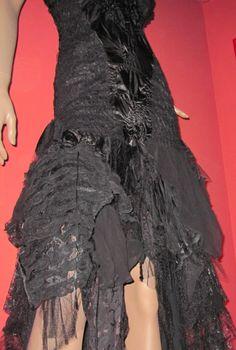 Exquisite Black Lace romantic wearable art dress by LauraConcetta