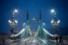 #hungary #budapest #snow #winter #bridge