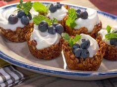 """Granola Parfait Cups (Open House Brunch) - Nancy Fuller, """"Farmhouse Rules"""" on the Food Network. What's For Breakfast, Breakfast Dishes, Breakfast Recipes, Antipasto, Food Network Farmhouse Rules, Parfait, Ham Breakfast Casserole, Food Network Recipes, Cooking Recipes"""