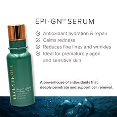 Our EPI-gN™ Serum contains key active ingredient Niacinamide, which is vital in improving moisturization and skin barrier function. Say goodbye to dry skin and hello to deep revitalisation. Active Ingredient, Dry Skin, Sensitive Skin, Serum, Personal Care, Science, Deep, Personal Hygiene, Flag