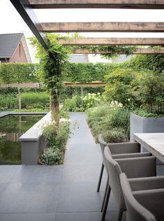 Moderne nieuwbouw tuin Elst