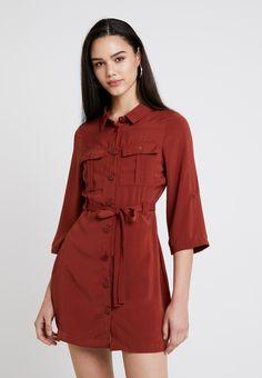 Even&Odd Robe d'été - dark red - ZALANDO.FR Quoi Porter, Even And Odd, Dark Red, Shirt Dress, Jackets, Shirts, Dresses, Fashion, Dress Shirt
