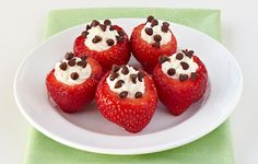 TV-Famous Stuffed Strawberries (Recipe Inside!) Healthy way to satisfy that sweet tooth. #hungrygirl