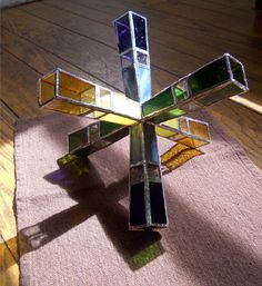 Burst Stained Glass Sculpture, Ideas. $200.00, via Etsy.