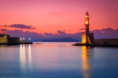 Sunset at the Venetian Lighthouse at Chania, Crete, Greece by Joe Daniel Price Beautiful Islands, Beautiful Places, Places In Greece, Crete Island, Creta, Sea To Shining Sea, Amazing Sunsets, Beautiful Sunrise, Rest Of The World