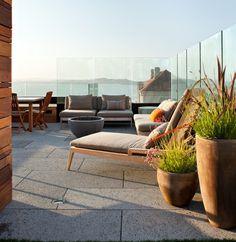 glas geländer ideen für garten balkon windschutz