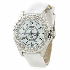 Tanboo Women's Fashionable PU Analog Quartz Wrist Watch 2430 (White) by None. $12.69. Movement?	Quartz?. Style?	Wrist Watches ?. Gender?	Women's, Men's?. Type?	Casual Watches ?. Display?	Analog ?. Specifications Gender?Women's, Men's?  Movement?Quartz?  Display?Analog ? Style?Wrist Watches ? Type?Casual Watches ? Band Material?Leather ? Band Color?White?  Case Diameter Approx (cm)?4.5 ? Case Thickness Approx (cm)?0.7 ? Band Length Approx (cm)?24 ? Band Width Appro...