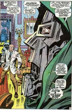 dr Doom speaks. jack Kirby rules. f4, fantastic four, marvel comics.... That's it, I'm calling someone a sniveling jackanape by the end of the day.