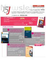 15J : La newsletter d'Experts-Comptables Services n°3 du 13.07.2012