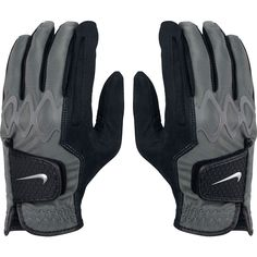 Body-led silicone over-mold on the back of the knuckles on these mens all weather II regular black golf gloves by Nike provide a superior fit, flexibility and range of motion