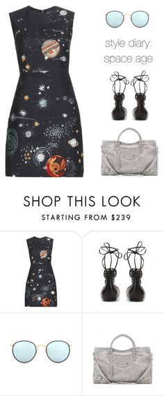 """""""style diary: space age"""" by icelle ❤ liked on Polyvore featuring Valentino, Isabel Marant, Ray-Ban and Balenciaga"""