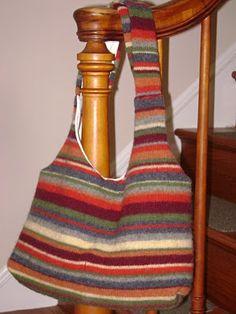 borsa riciclando un vecchio maglione - tutorial