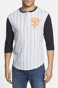 Men's Red Jacket 'San Francisco Giants - Double Play' Jersey Henley