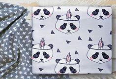 MADE TO ORDER Baby blanket 'Blushing panda' organic by Edenest