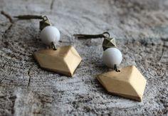 BO762 Boucles d'oreilles géométriques par creationjuliedupont, $18.00 Creations, Stud Earrings, Etsy, Jewelry, Ears, Boucle D'oreille, Locs, Jewels, Earrings
