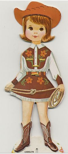 Vintage Paper Doll- I wanted to be a cowgirl when I was 5 yrs old....