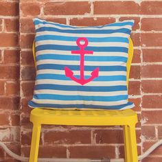Diggin' this beachy anchor. Available in both indoor and outdoor pillows!