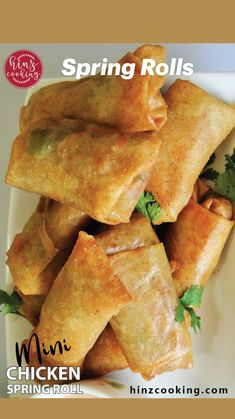 Asian Recipes, Healthy Recipes, Ethnic Recipes, Appetizer Recipes, Appetizers, Chicken Spring Rolls, Egg Roll Recipes, Asian Cooking, Mets