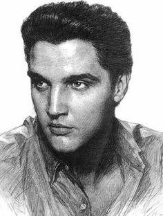 Charcoal Portraits Elvis Presley Charcoal Portraits, Charcoal Art, Black And White Portraits, Artistic Portrait, Portrait Ideas, Awesome Art, Cool Art, Music Images, People Art