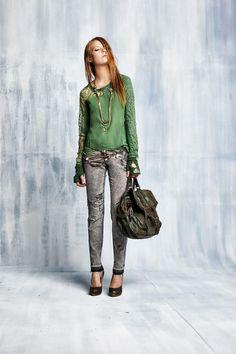 #danieladallavalle #collection #elisacavaletti #fw15 #green #shirt #bag #grey #denim #jeans