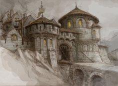 Gate to Dwarf's Town by Paweł.