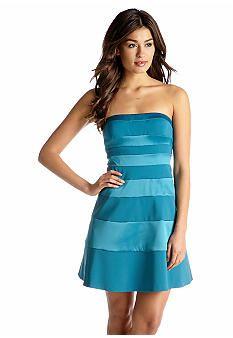 Jessica Simpson Strapless Party Dress #Belk #BelkXUNC