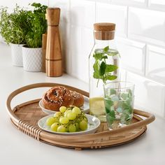 """VÅRFINT Tray, bamboo, 19x13"""" - IKEA Kitchen Baskets, Kitchen Tray, Kitchen Dining, Rattan, Wicker Tray, Kitchen Cabinets Fronts, Tropical Kitchen, Ikea Family, Have A Good Weekend"""