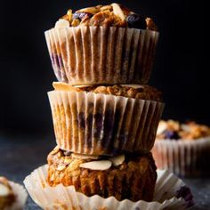 Sparkling Jumbo Blueberry Muffins | Sally's Baking Addiction  Muffins Sparkling Jumbo Blueberry Muffins | Sally's Baking Addiction Banana Oat Muffins, Banana Oats, Sally, Blueberry, Addiction, Baking, Desserts, Food, Tailgate Desserts